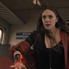 Wanda revelándose contra Ultrón.