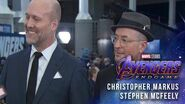 Christopher Markus & Stephen McFeely (Screenwriters) LIVE from the Avengers Endgame Red Carpet
