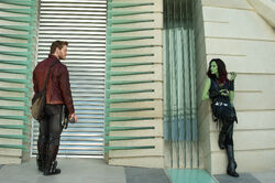 Star-Lord and Gamora