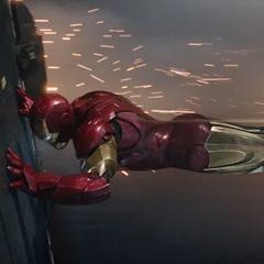 Stark repara la turbina dañada.