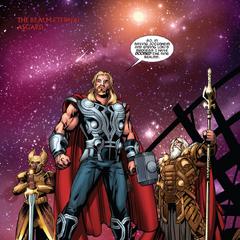 Odín, Thor y Heimdall discuten los últimos acontecimientos.
