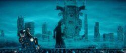 Thor Ragnarok-GrandmasterFindingSakaar