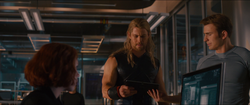 Widow, Thor & Cap (AoU)