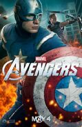 Avengers Poster Captain America and Hawkeye