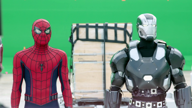 File:Spider-Man & War Machine (Behind the Scenes - The Making of CACW).png