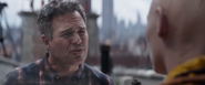 Bruce Banner talks to the Ancient One