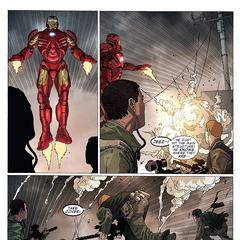Stark encuentra a los Diez Anillos en el barco.