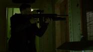 Punisher uses his gun