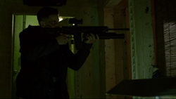 Punisher uses his gun