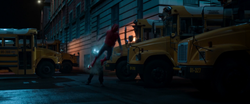 Spider-Man punched by Shocker (Midtown Bus Yard)
