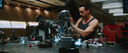 Tony Stark builds Mark II
