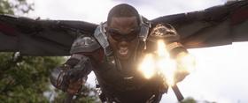Falcon firing Thanos