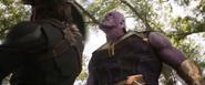Cap receives blows at Thanos