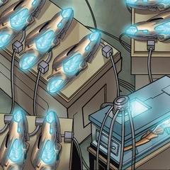 List usa el Cetro para activar las Armas Chitauri.