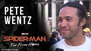 Pete Wentz wants to know what happens in Spider-Man Far From Home LIVE from the red carpet