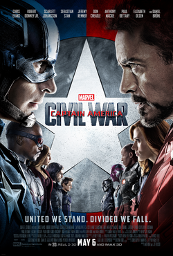 Captain America Civil War - Poster definitivo