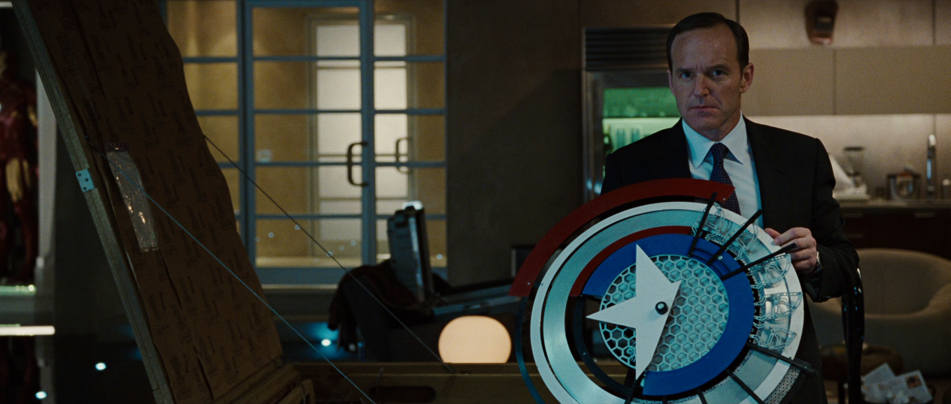 Image result for coulson with shield iron man 2