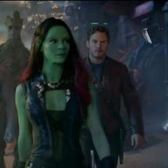 Gamora y el equipo en Knowhere.