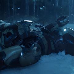 Stark aterriza con el Mark XLII en Rose Hill.