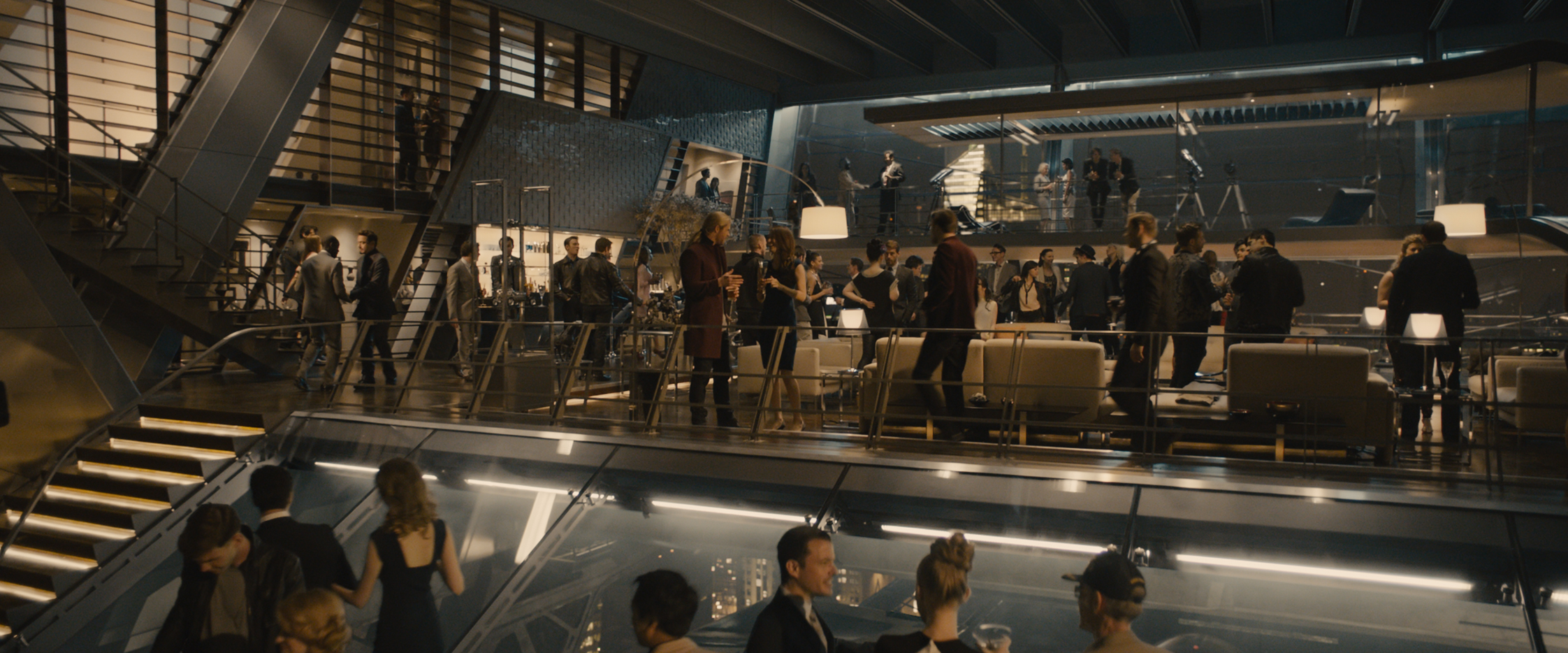 image avengers tower party jpg marvel cinematic universe wiki