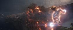 Captain Marvel destroys Sanctuary II