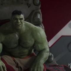 Hulk burlándose de Thor.