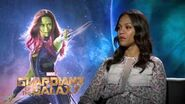 "Marvel's ""Guardians of the Galaxy"" - Zoe Saldana Interview"