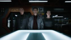 Shaw is questioned by Coulson and Johnson