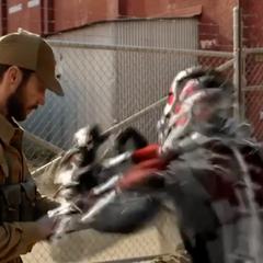 Pym y van Dyne enfrentan a los guardias.