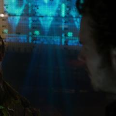 Groot le afirma a Quill de que es el único que entiende las cosas.