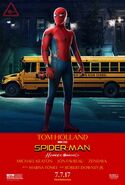 Spider-Man Homecoming Taxi Driver poster