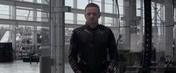 Hawkeye falls to knees