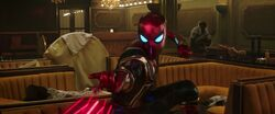 Iron Spider-Man Webs Up Goon