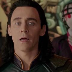 Loki se horroriza al ver que Hulk es el campeón del Gran Maestro.