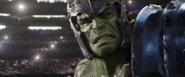 Hulk looks at Loki (Ragnarok)