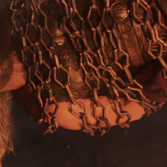 Thor encadenado en Muspelheim.
