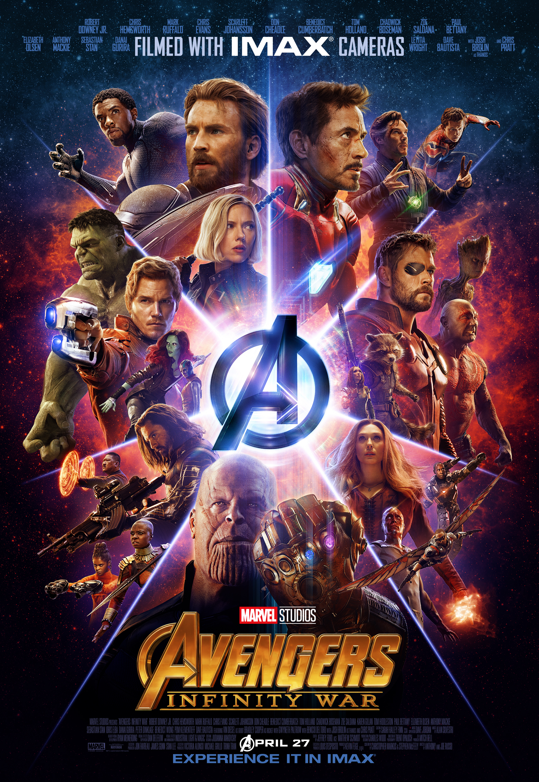 The Avengers Infinity War Poster