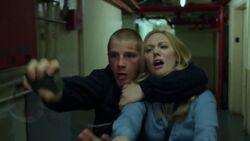 Lewis takes Karen hostage