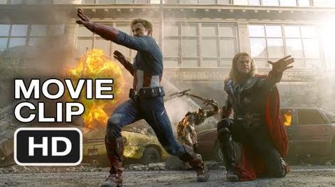 The Avengers Movie CLIP 2 - Thor and Captain America Do Battle (2012) Marvel Movie HD