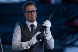 Justin Hammer with gun