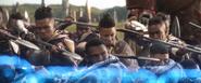 Wakanda Kingsguards shooting at Outriders