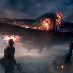 Rogers observa a Danvers destruir el Santuario II.