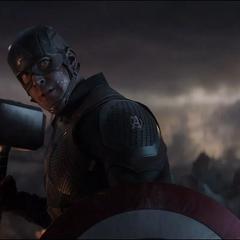 Rogers justo después de salvar a Thor.