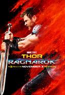 Thor Character Poster Thor Ragnarok