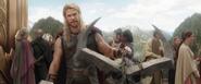Thor Presents the Crown of Surtur