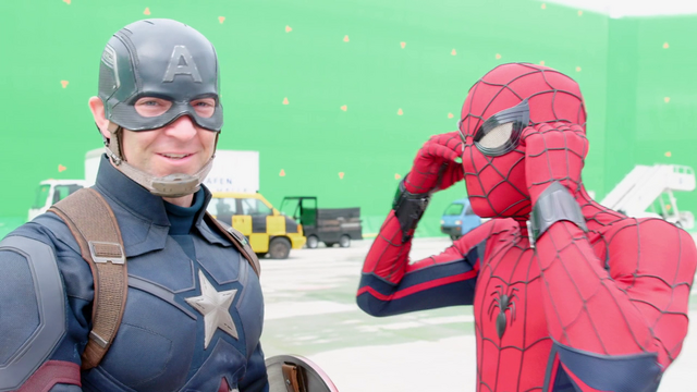 File:Captain America Stunt Double & Spider-Man (The Making of CACW).png