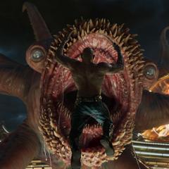 Drax se lanza contra el Abilisk.