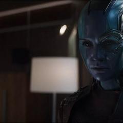 Nebula revela la ubicación de Thanos.