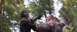 Thanos takes down Black Panther