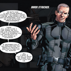 Strucker le enseña sus ideas a Smith.